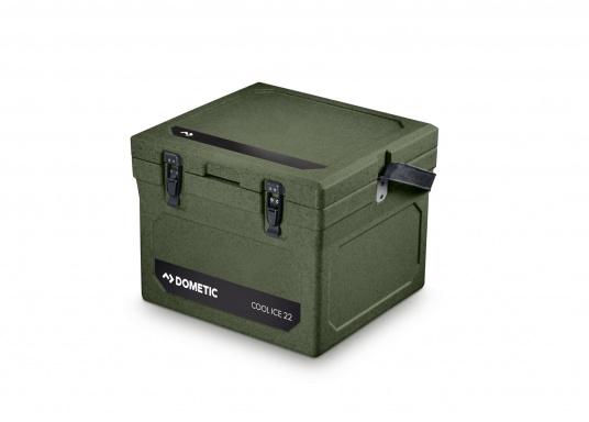 The COOL-ICE WCI 22 from Dometic is the perfect companion in all situations when a power source is missing. Keeps ice frozen for several days. The cooler is made of a thick foam insulation and features a unique labyrinth seal design. Colour: green
