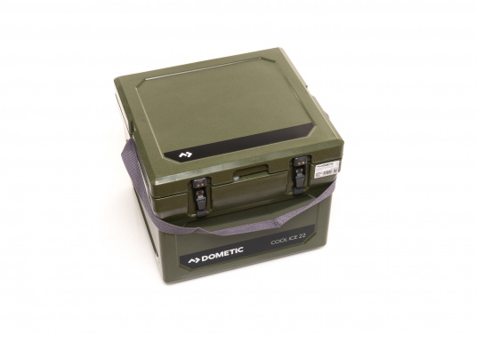 The COOL-ICE WCI 22 from Dometic is the perfect companion in all situations when a power source is missing. Keeps ice frozen for several days. The cooler is made of a thick foam insulation and features a unique labyrinth seal design. Colour: green (Imagen 2 de 5)