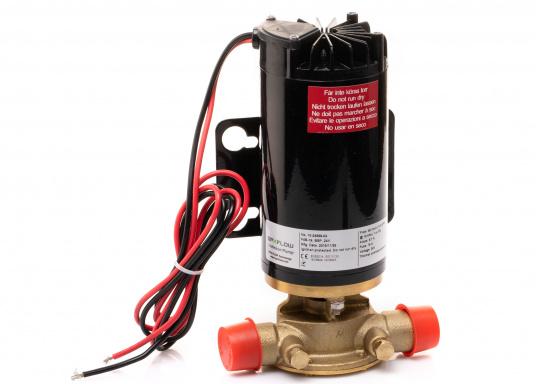 Hervorrangende Impellerpumpe für den Einsatz als Bilgepumpe, Deckwaschpumpe, Feuerlöschpumpe, Frischwasserpumpe und als Öl- oder Dieselpumpe. Förderleistung: 45 l/min. Erhältlich in 12 oder 24 V. (Bild 2 von 8)