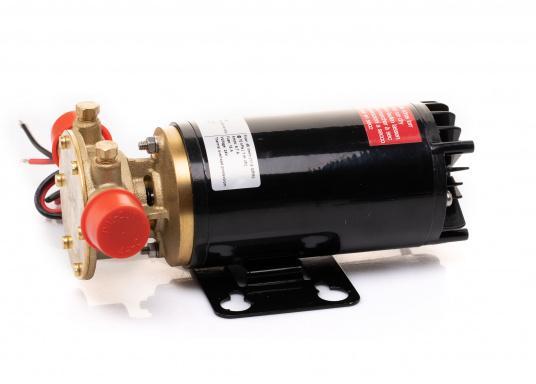 Hervorrangende Impellerpumpe für den Einsatz als Bilgepumpe, Deckwaschpumpe, Feuerlöschpumpe, Frischwasserpumpe und als Öl- oder Dieselpumpe. Förderleistung: 45 l/min. Erhältlich in 12 oder 24 V. (Bild 7 von 8)