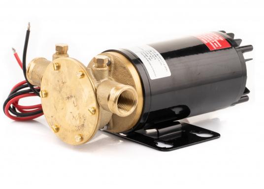 Hervorrangende Impellerpumpe für den Einsatz als Bilgepumpe, Deckwaschpumpe, Feuerlöschpumpe, Frischwasserpumpe und als Öl- oder Dieselpumpe. Förderleistung: 45 l/min. Erhältlich in 12 oder 24 V.
