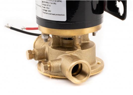 Hervorrangende Impellerpumpe für den Einsatz als Bilgepumpe, Deckwaschpumpe, Feuerlöschpumpe, Frischwasserpumpe und als Öl- oder Dieselpumpe. Förderleistung: 45 l/min. Erhältlich in 12 oder 24 V. (Bild 3 von 8)