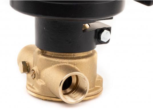 Ideal zum Abpumpen von Bilgenwasser, als Auftankpumpe, für Waschanlagen, als Feuerlöschpumpe, für Frischwasser etc. Spannung: 24 V. (Bild 4 von 8)