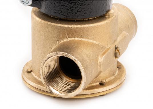 Die Impellerpumpe F7B-3000 ist als Kühlwasserpumpe für Motoren, Lenzpumpe, Spülpumpe und als Pumpe für die Entleerung von Fäkalientanks geeignet. (Bild 4 von 8)