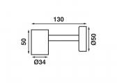 LED-Leseleuchte TUBE D1X / biegsamer Arm