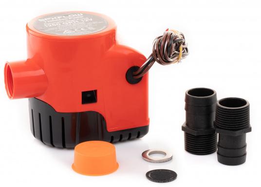 Die Lenzpumpe Ultima 1250GPH von JOHNSON verfügt über hochmoderne mikroelektrische Felder, die ein Vorhandensein von Wasser im Bilgenbereich eines Schiffes erkennt und dieses Wasser daraufhin automatisch abpumpt.Spannung: 12 V. (Bild 2 von 5)