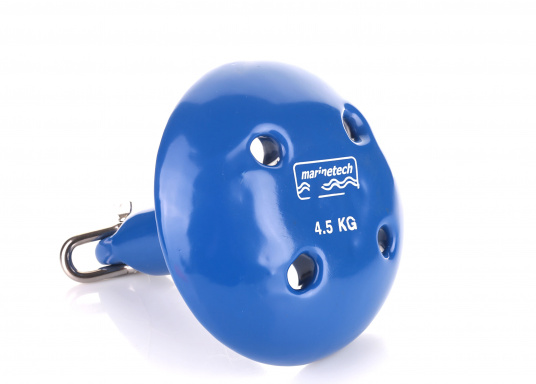 A real alternative to a folding anchor! This mushroom anchor is made of robust steel and is covered with a solid blue rubber layer. Ideal for smaller boats, dinghies and inflatable boats. Available in different sizes. (Image 6 of 7)