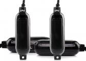 G-Series Fender Set / black / 4 pieces / incl. fender lines