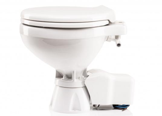 Die elektrische Toilette AquaT Silent von Johnson überzeugt mit einem leisen Spül- und Entsorgungsbetrieb und kann sowohl über, als auch unterhalb der Wasserlinie installiert werden. Geeignet für den Einsatz auf dem Meer, See und Kanal.Lieferung inklusive Bedienpaneel. Ausführung: Kompakt. Spannung: 12 V.