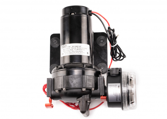 Die WD 5.2 ist eine Membranpumpen mit 5 Kammer-Verdrängungssystem.Diese Pumpe ist die bestens als Deckwasch- und Reinigungsgerät geeignet, da sie einen Druck von 5 bar erzeugt und somit eine schnelle und einfache Reinigung gewährleistet. Spannung: 12 V. (Bild 2 von 2)