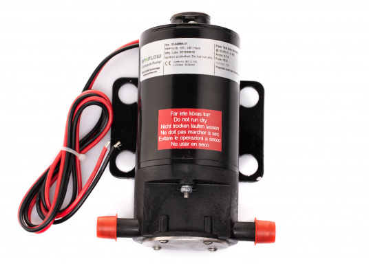 Ideal für der Bilge, als Öl- oder Dieselpumpe, als Deckwaschpumpe, als Feuerlöschpumpe, als Frischwasserpumpe etc. Erhältlich in 12 oder 24 V.