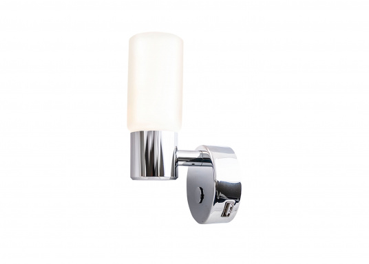 Die LED-Wandleuchte der LEIA-Serie von BATSYSTEM überzeugt mit stielvollen, modernen Design und verfügt über einen integrierten Dimmer, Memory-Funktion und einen Anschluss zum Laden von USB-fähigen Geräten. (Bild 5 von 6)