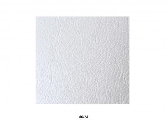 Hochwertig verarbeiteter und strapazierfähiger Bezugsstoff mit geprägter Ledernarbung, ideal als Polsterbezug für Möbel geeignet.Lieferung im Anschnitt zu mind. 1 m. Preis pro Meter. Farbe: weiß.