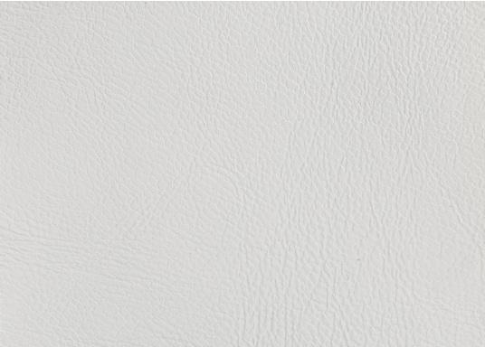 Very high-quality, durable material with embossed leather grain and foam backing. This classic fabric is ideally suited for wall and ceiling panels. Roll width 140m. Supplied cut to at least 1 m. Price per meter. Colour: creamy white