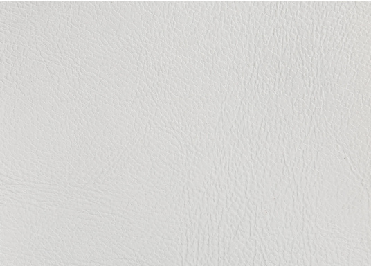 Classic fabric with embossed leather grain and felt backing, ideally suited for indoor and outdoor use. Colour: creamy white. Roll width 140m. Supplied cut to at least 1 m. Price per meter.