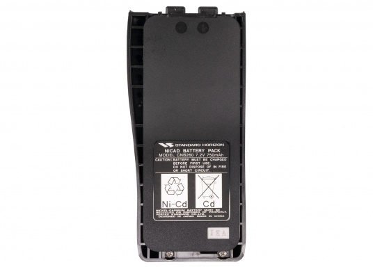Originaler NiCad-Ersatzakku CNB260 (7,2 V / 750 mAh) für das Standard Horizon Fungkerät HX260S.