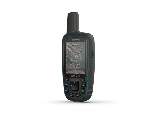 The GPSMAP® 64x handheld navigation device features a 2.6-inch display that's easy to read even in sunlight. A high-sensitivity GPS and GLONASS receiver combined with a Quad Helix antenna ensure reliable and excellent reception. (Imagen 4 of 7)