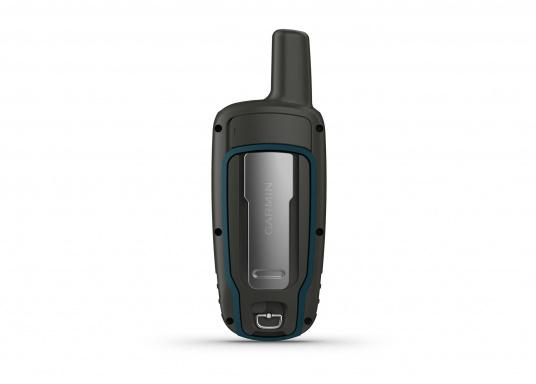The GPSMAP® 64x handheld navigation device features a 2.6-inch display that's easy to read even in sunlight. A high-sensitivity GPS and GLONASS receiver combined with a Quad Helix antenna ensure reliable and excellent reception. (Afbeelding 6 of 7)