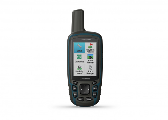 The GPSMAP® 64x handheld navigation device features a 2.6-inch display that's easy to read even in sunlight. A high-sensitivity GPS and GLONASS receiver combined with a Quad Helix antenna ensure reliable and excellent reception. (Afbeelding 2 of 7)