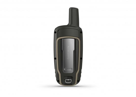 Das GPSMAP® 64sx-Navigationshandgerät ist mit einem 2,6-Zoll-Display ausgestattet, das auch bei Sonneneinstrahlung sehr gut lesbar ist. Ein hochempfindlicher GPS-, GLONASS- und GALILEO-Empfänger in Kombination mit einer Quad-Helix-Antenne gewährleisten einen zuverlässigen und ausgezeichneten Empfang. Integrierter 3-Achsen-Kompass, barometrischer Höhenmesser sowie drahtloste Konnektivität. (Bild 7 von 8)
