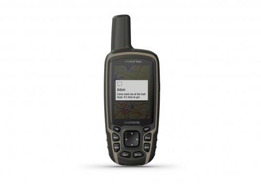 Das GPSMAP® 64sx-Navigationshandgerät ist mit einem 2,6-Zoll-Display ausgestattet, das auch bei Sonneneinstrahlung sehr gut lesbar ist. Ein hochempfindlicher GPS-, GLONASS- und GALILEO-Empfänger in Kombination mit einer Quad-Helix-Antenne gewährleisten einen zuverlässigen und ausgezeichneten Empfang. Integrierter 3-Achsen-Kompass, barometrischer Höhenmesser sowie drahtloste Konnektivität. (Bild 5 von 8)