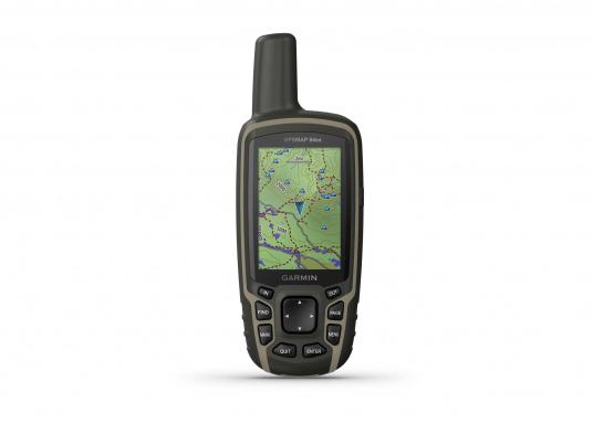 Das GPSMAP® 64sx-Navigationshandgerät ist mit einem 2,6-Zoll-Display ausgestattet, das auch bei Sonneneinstrahlung sehr gut lesbar ist. Ein hochempfindlicher GPS-, GLONASS- und GALILEO-Empfänger in Kombination mit einer Quad-Helix-Antenne gewährleisten einen zuverlässigen und ausgezeichneten Empfang. Integrierter 3-Achsen-Kompass, barometrischer Höhenmesser sowie drahtloste Konnektivität. (Bild 2 von 8)