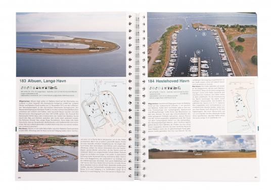 Hafenguide 6 - Denmark and Sweden presents 415 marinas and anchorages, each with an aerial photograph and a harbour plan from the official Danish nautical charts with marked entry course. (Image 2 of 2)