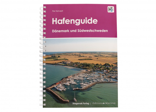Hafenguide 6 - Denmark and Sweden presents 415 marinas and anchorages, each with an aerial photograph and a harbour plan from the official Danish nautical charts with marked entry course.