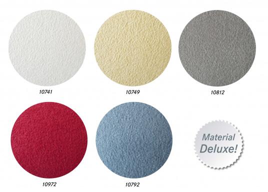 Samtig weicher Microfaserstoff mit Schaumstoffrücken, ideal fürdie Wand- und Deckenverkleidung Ihres Schiffes.  (Bild 2 von 3)