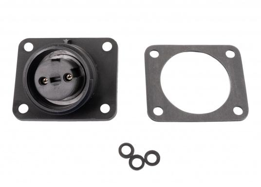 2-polige Flanschdose, passend für den Kabelanschluss von PX0911- und PXA911-Steckern von Bulgin. Standard Buccaneer.