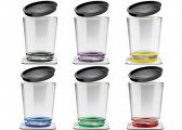 MULTICOLOUR Magnetic Drinking Cup Set of 6 / incl. Coaster and Lid