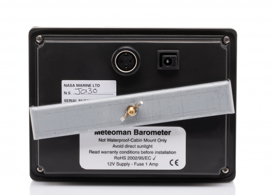 The MeteoMan provides accurate, high-resolution barograph recording in excess of five days data on barometric pressure and wind speed. It is easy to use, reliable, rugged and draws very little power from the boat's battery. Includes mast unit. (Image 6 of 9)