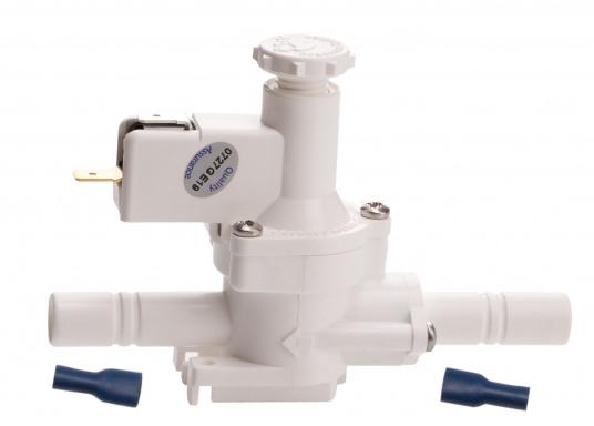 """Der Druckschalter von WHALE schaltet die Pumpe durch Messen des Wasserdrucks, selbstständig ein oder aus. Der Einbau erfolgt einfach in einer 13 mm (1/2"""") Wasserleitung. Spannung: 12 / 24 V. (Bild 2 von 4)"""