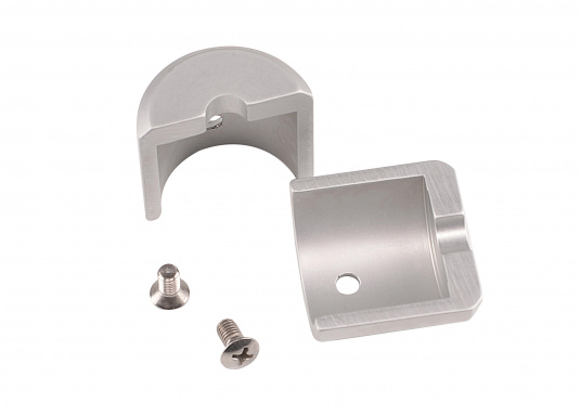 Originale und passende Endkappen aus Aluminium für die KR/TR-Profile der Rollreffanlagen von NEMO. Verpackungseinheit: 2 Stück. (Bild 2 von 2)