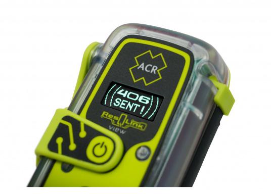 Die PLB ResQLink View von ACR bietet beispiellose Sicherheit!Dank der integrierten Signaltechnologie auf drei Ebenen - GPS-Ortung, ein leistungsstarkes 406-MHz-Signal und eine Zielsuchfunktion von 121,5 MHz - leitet ResQLink View Ihre Position schnell und präzise an ein weltweites Netzwerk von Such- und Rettungssatelliten weiter. Zusätzlich verfügt ResQlink View über eine innovative Digitalanzeige, die während des gesamten Rettungsvorgangs den Live-Status sowie die GPS-Koordinaten anzeigt. (Bild 7 von 8)