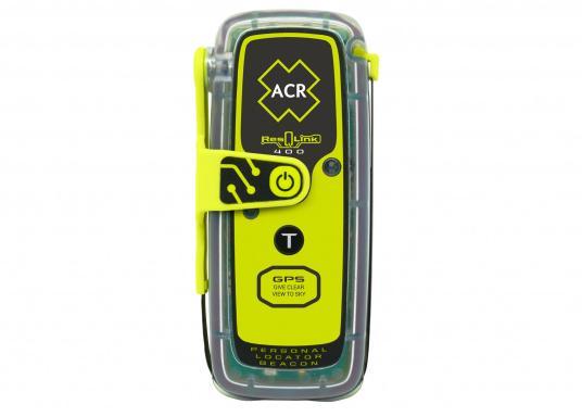 La PLB ResQLink 400 est le modèle successeur de la ResQLink+ d'ACR. Maintenant, cette PLB flottante est plus petite et plus légère qu'avant. Les boutons Test et déclenchement sont désormais séparés. Grâce à cela, l'utilisation de la balise en situation de danger est plus facile et plus claire. Les récepteurs GPS, GNSS et GALILEO augmentent la traçabilité mondiale de la ResQLink 400.