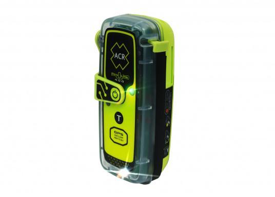 La PLB ResQLink 400 est le modèle successeur de la ResQLink+ d'ACR. Maintenant, cette PLB flottante est plus petite et plus légère qu'avant. Les boutons Test et déclenchement sont désormais séparés. Grâce à cela, l'utilisation de la balise en situation de danger est plus facile et plus claire. Les récepteurs GPS, GNSS et GALILEO augmentent la traçabilité mondiale de la ResQLink 400. (Image 3 de 6)