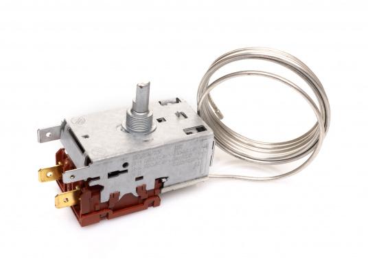 Hier finden Sie ein stufenlos einstellbares Thermostat für Verdampfer. Das Thermostat wird extern montiert.