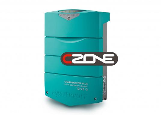ChargeMaster PLUS CZone ist die nächste Generation der Batterieladegeräte, die zahlreiche Funktionen in einem Gerät vereint.Anzahl der Batterieausgänge: 2 + 1. Ladestrom insgesamt: 75 A.