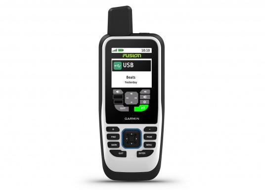 """Das GPSMAP 86s ist ein eigenständiges Backup-Navigationsgerät welches dank drahtloser Konnektivität außerdem als Erweiterung des Marinesystems dient. Das 3"""" große Display ist auch bei Sonneneinstrahlungen gut lesbar und verschaffteinen besseren Überblick und zusätzliche praktische Funktionen. (Bild 3 von 7)"""