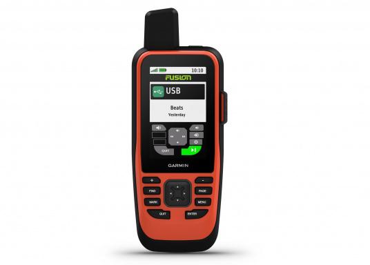 """Das GPSMAP 86i ist ein eigenständiges Backup-Navigationsgerät welches dank drahtloser Konnektivität außerdem als Erweiterung des Marinesystems dient. Das 3"""" große Display ist auch bei Sonneneinstrahlungen gut lesbar und verschaffteinen besseren Überblick und zusätzliche praktische Funktionen, wiedie Satellitenkommunikation für interaktive SOS-Notrufe. (Bild 3 von 11)"""