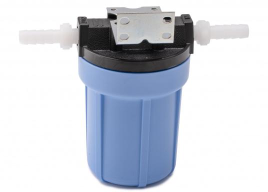 Das Wasserfiltersystem filtert zuverlässig gelöste Verunreinigungen und Sedimente aus Ihrem Trinkwasser. Die Filterleistung umfasst etwa 5.000 Liter.  (Bild 2 von 6)
