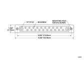 Bus Bar 2x M6 / 20x M4