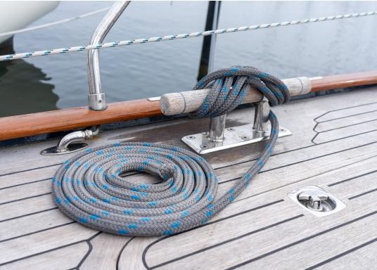 Design modernocon l'esperienza tecnica tradizionale: la nuova cima di ormeggio Dock-Flex assicura un ottimo ormeggio nei porti difficili. Struttura innovativa delle cime a doppio intrecciato con poliestere ad alta resistenza.  (Immagine 3 di 4)