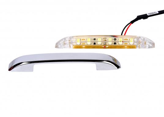 Polyvalente ! Ces lampes peuvent être montées soit à la verticale soit à l'horizontale. BARTEGO diffuse grâce aux lampes à LEDSMD chromées une lumière efficace. Eclairage vers le haut et le bas.  (Image 4 de 4)