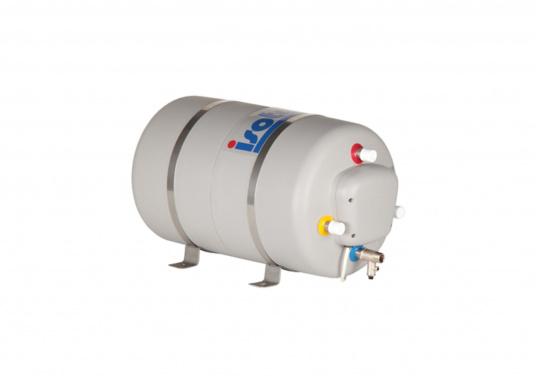 Die Warmwasserboiler SPA verfügen über einen integrierten Heizstab (230 V - 750 W), ein kombiniertes Sicherheits- und Rückschlagventil sowie eine Polyurethan-Dämmung. Erhältlich in unterschiedlichen Größen. (Bild 7 von 7)