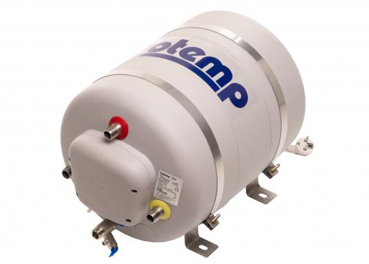 Die Warmwasserboiler SPA verfügen über einen integrierten Heizstab (230 V - 750 W), ein kombiniertes Sicherheits- und Rückschlagventil sowie eine Polyurethan-Dämmung. Erhältlich in unterschiedlichen Größen.