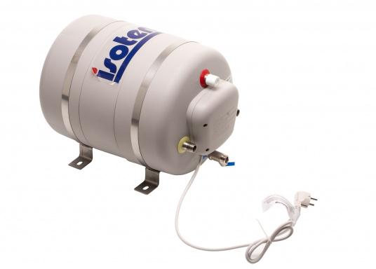Die Warmwasserboiler SPA verfügen über einen integrierten Heizstab (230 V - 750 W), ein kombiniertes Sicherheits- und Rückschlagventil sowie eine Polyurethan-Dämmung. Erhältlich in unterschiedlichen Größen. (Bild 3 von 7)