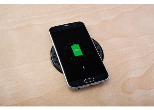 Das kompakte und wasserdichte Ladegerät SURFACE ermöglicht ein kabelloses, induktives Laden Ihres Smartphones sowohl über, als auch unter Deck. Geeignet für 12 und 24 V. Qi-Zertifiziert. (Bild 2 von 10)