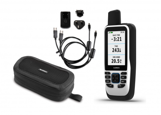 "The GPSMAP 86s is a stand-alone backup navigation device that also serves as an extension to the marine system with wireless connectivity. The 3"" display is easy to read even in sunlight and provides a better overview and additional practical functions. Delivery includes free travel charger and bag. (Afbeelding 1 of 10)"